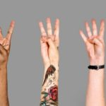 hands doing sign language 1 2 3 4 5
