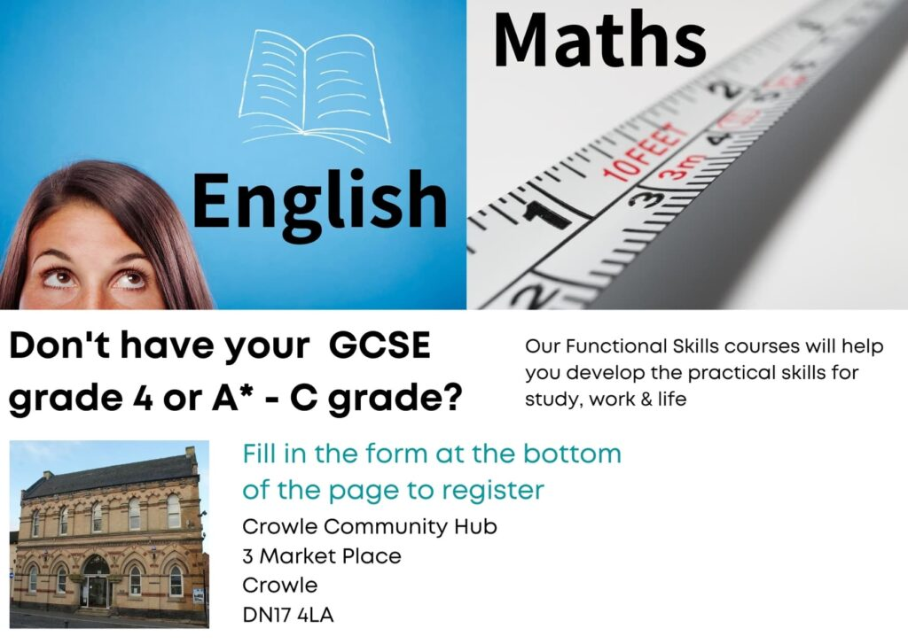 Poster for maths and english